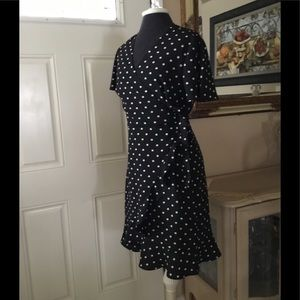 Banana Republic polka dress black/white sz.10 $32